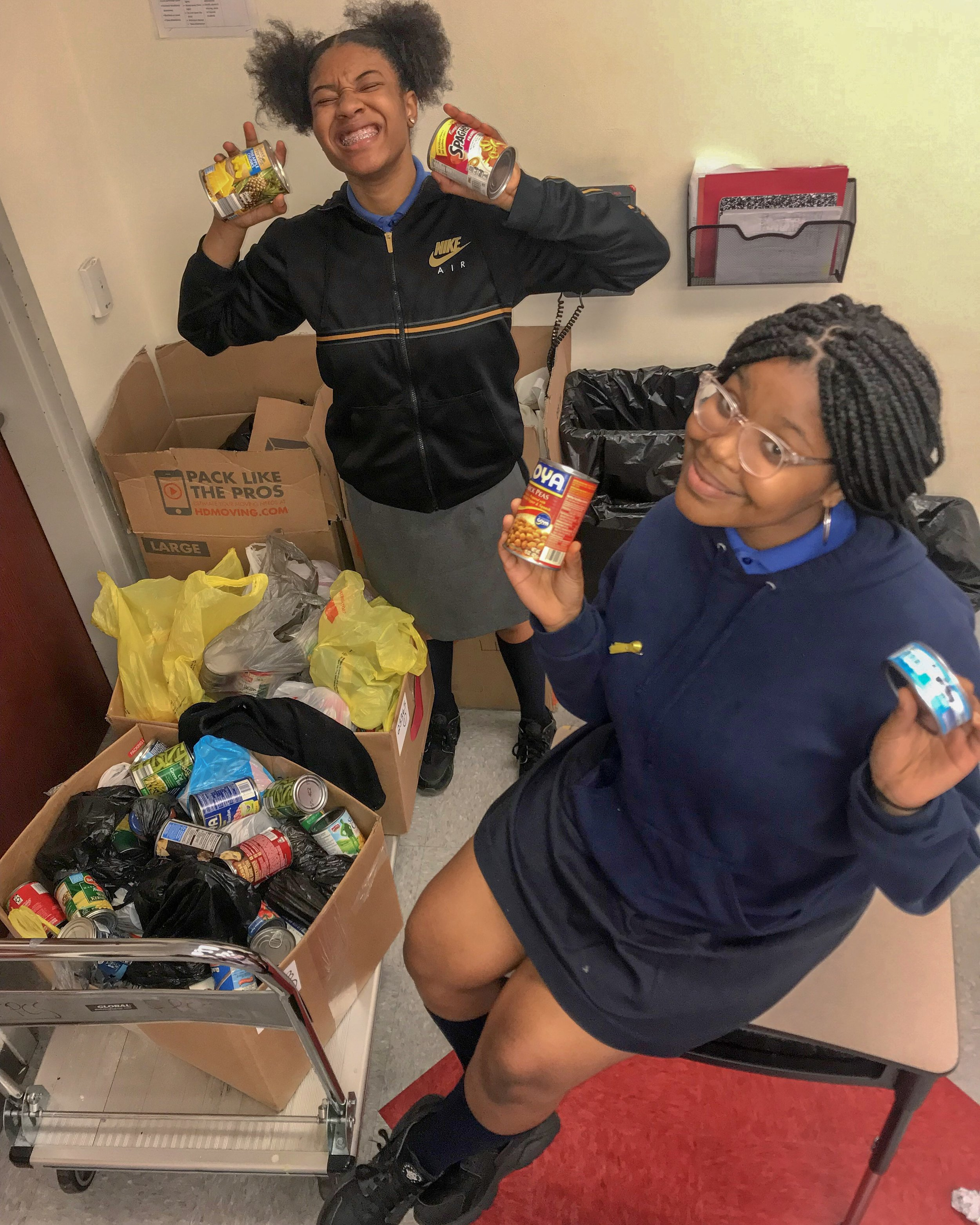 Pretty Pride raised more than 200 clothing and food products to donate to The Morris Home, a safe-haven for recovering transgender individuals.