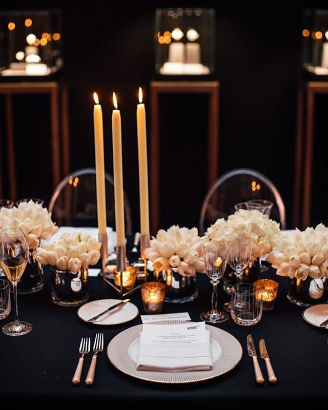 One of the most elegant table settings we've seen at the Violin Factory