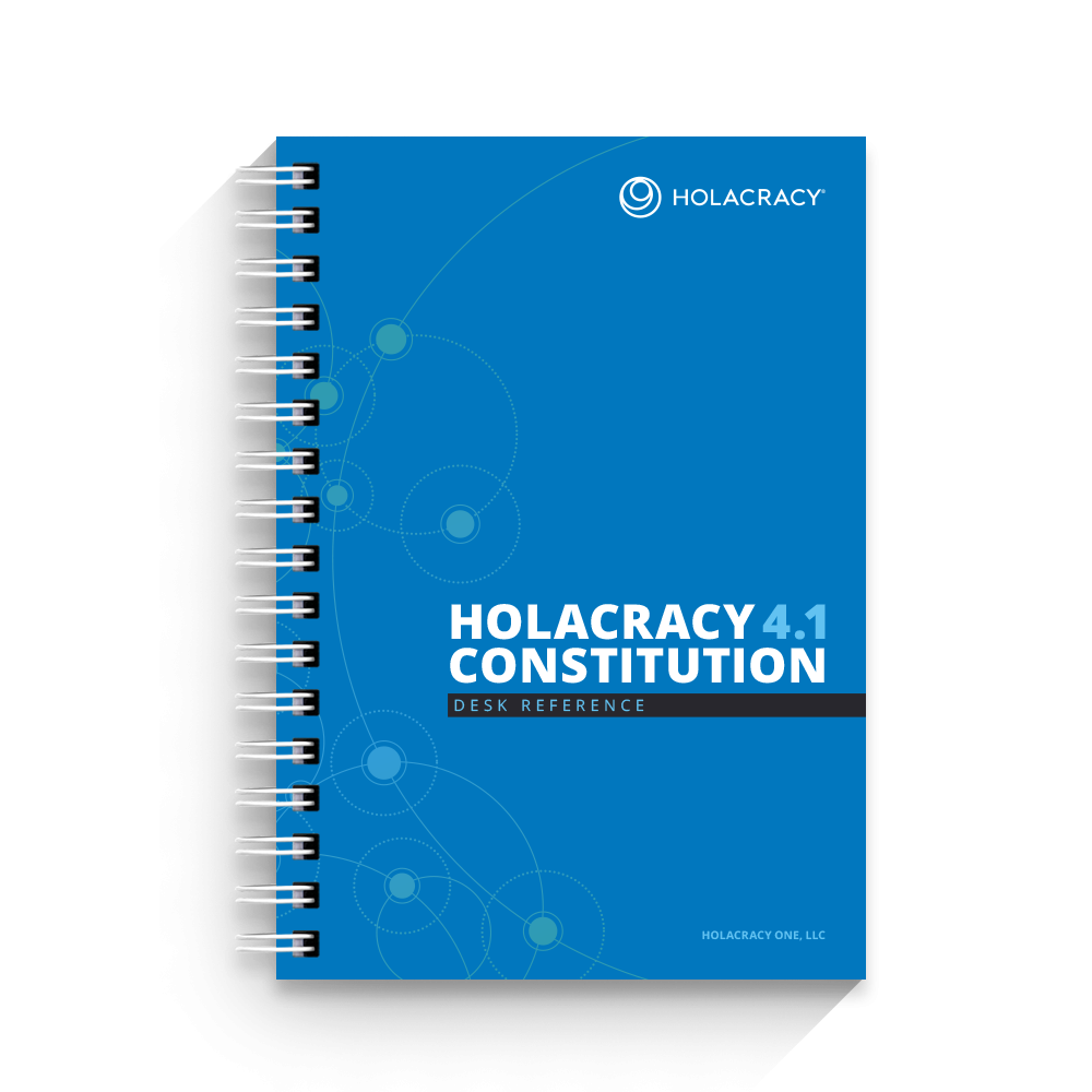 Holacracy Constitution Desk Reference (4.1) - $14.95