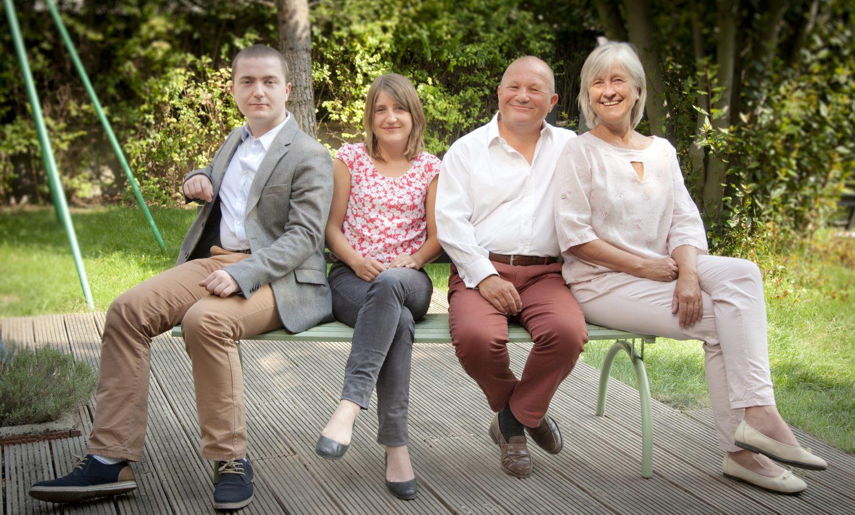 Left to Right: Louis Chiquet, Margaux Chiquet, Bernard Marie Chiquet, Perrine Chiquet