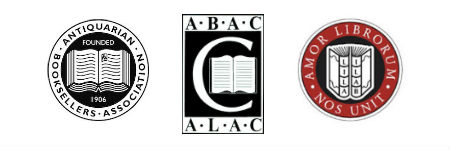 Members of the Antiquarian Booksellers' Association (ABA), the International League of Antiquarian Booksellers, and the Antiquarian Booksellers' Association of Canada (ABAC)