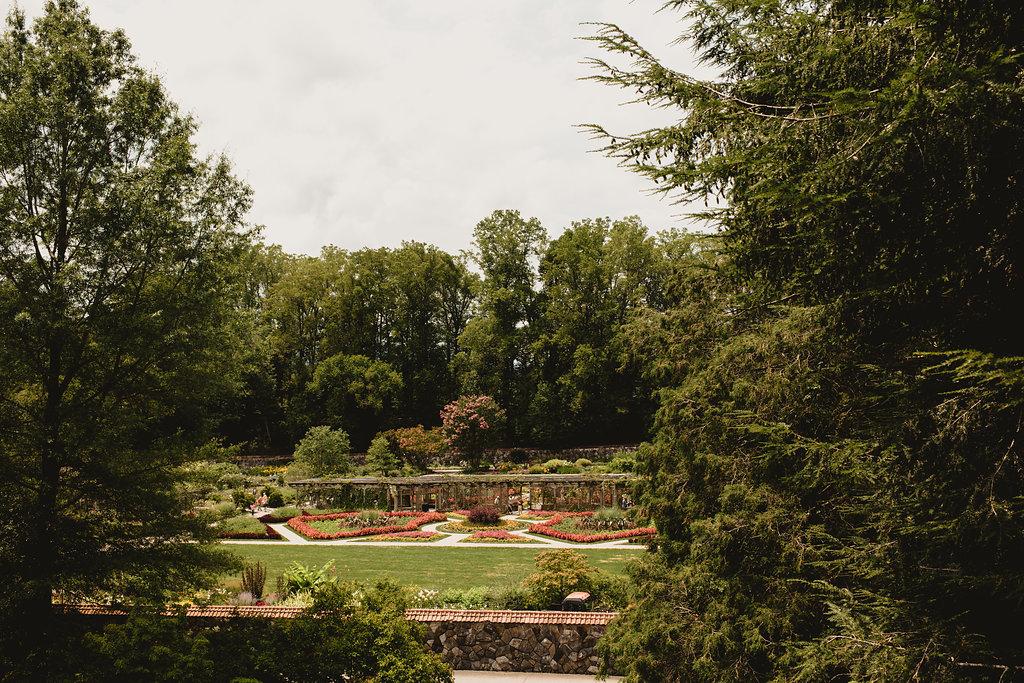 Biltmore Estate gardens.