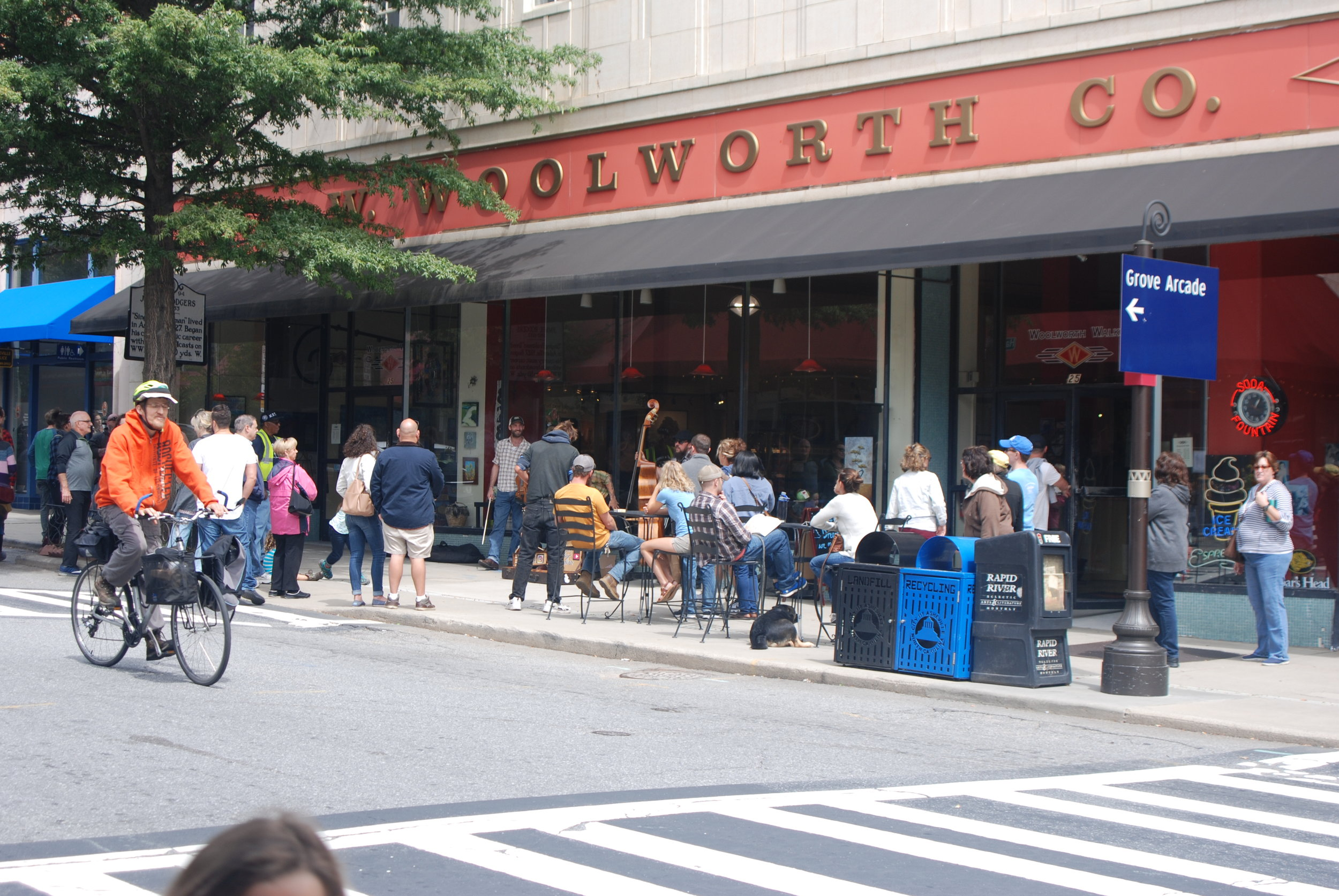 Woolworth Walk downtown.