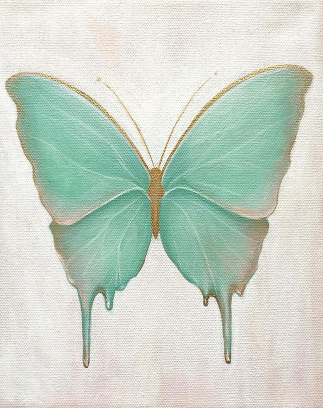 """""""Melting Butterfly"""" Acrylic on canvas"""
