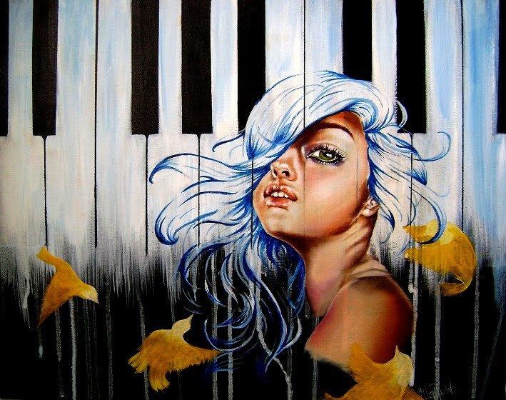 """""""Silent Downfall"""" Oil & acrylic on canvas"""