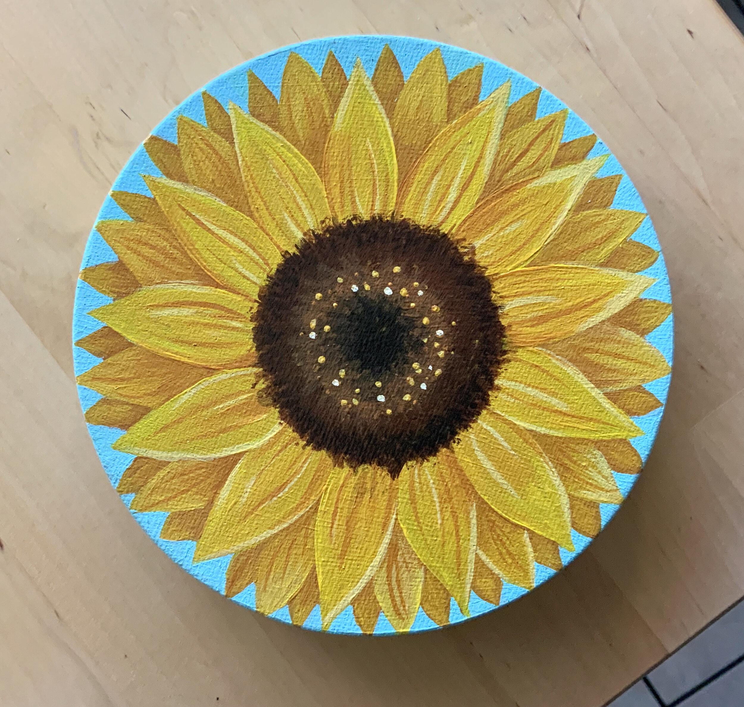 """""""My Sunflower"""" Acrylic on canvas"""