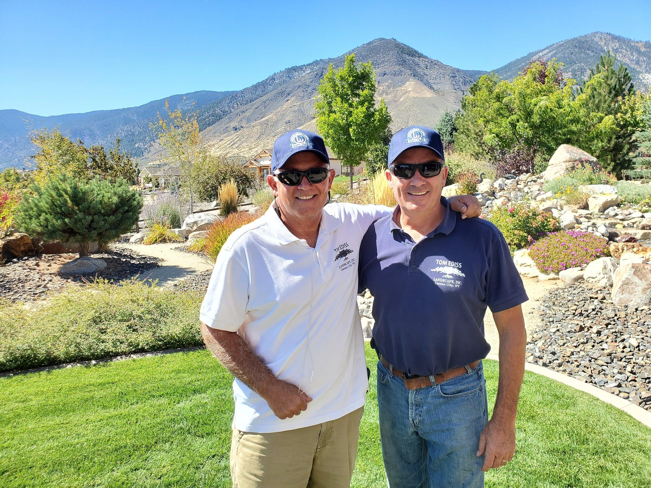 - Tom Ediss (Left) , Owner(775) 691-5044; tom@tomedisslandscape.comPeter Hagan (Right), Maintenance Supervisor(419) 604-9292; peter@tomedisslandscape.com