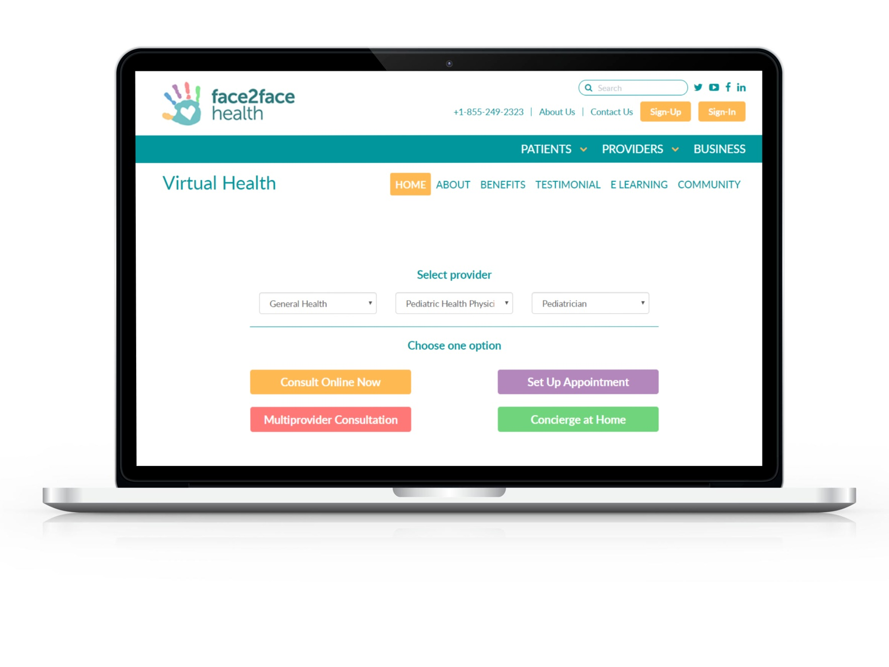 Everything You Need All in One Place - Face2Face Health offers convenient and affordable access to personalized information, tools, care and support you need and trust to better manage your family's health, development and well-being--all in one place.