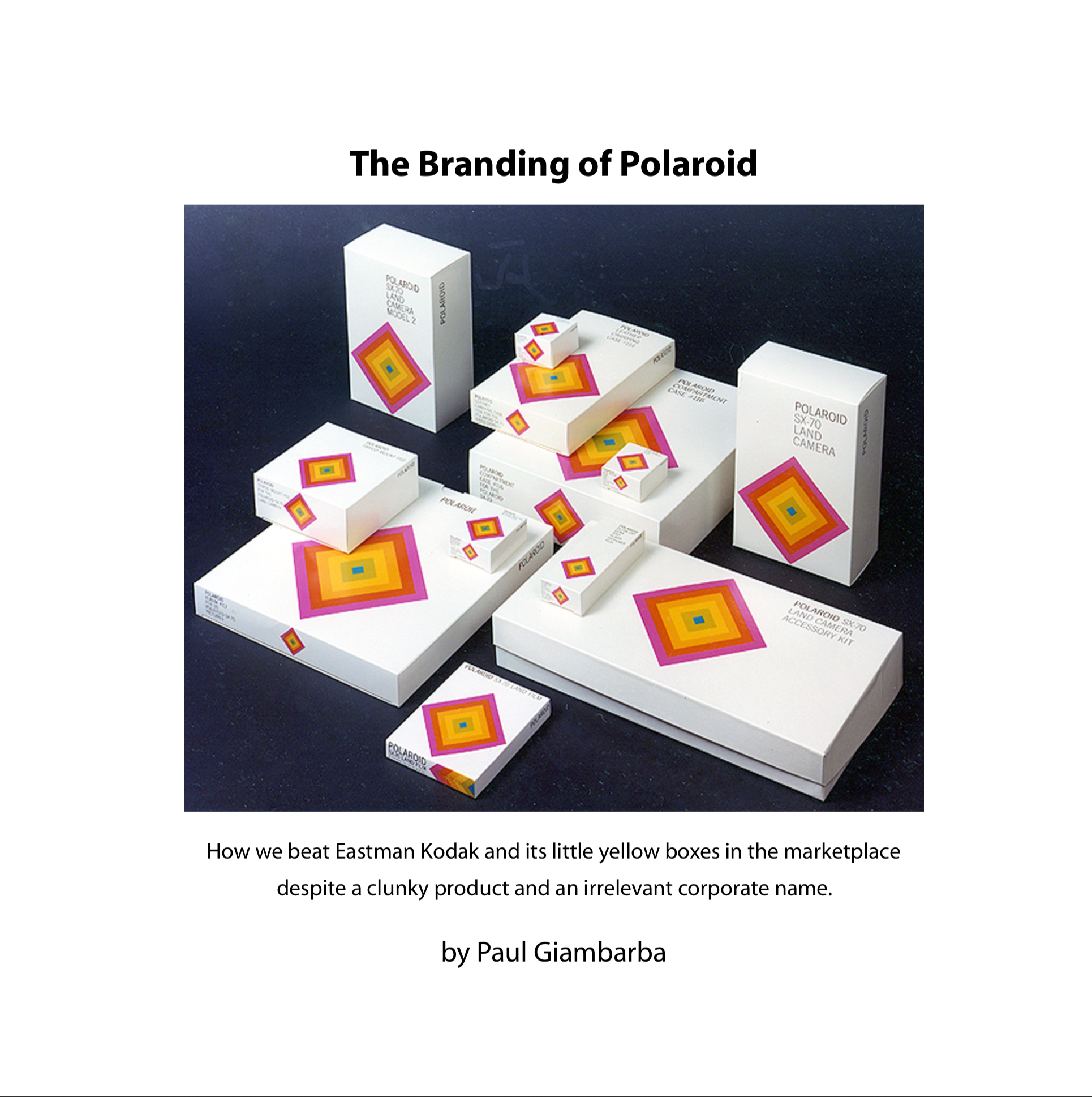 The Branding of Polaroid - First Edition