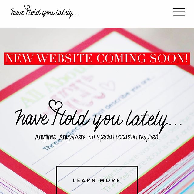 So excited!!! #comingsoon #newwebsite #cantwaittoshowyou #haveitoldyoulately #lunchboxnotes #blog #hopefeathers #allinoneplace #thanksemily