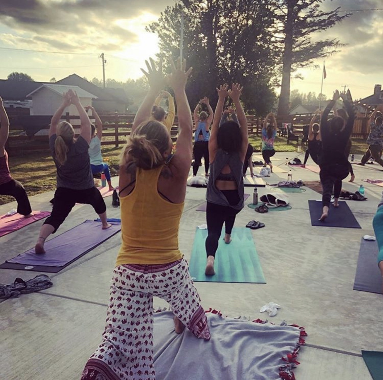 Yoga at the farm
