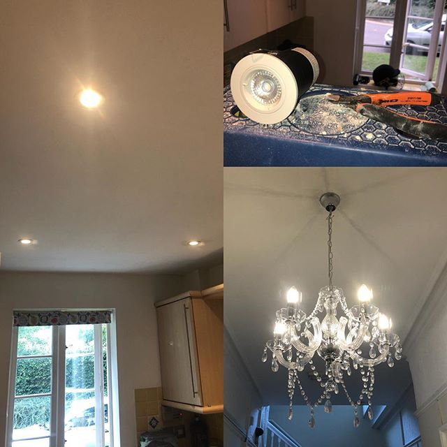 """New Chandeliers and electrical maintenance jobs completed at multiple properties for """"Accomadation YES"""", a supported housing company in Maidstone, also new LED kitchen lighting 💡#maidstone #electrician #kentbuilders #homeimprovement #interiors"""