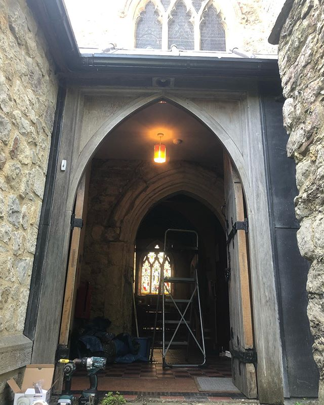 Some internal lighting and sensor repairs at All Saints Church in Loose, Maidstone. Urgently required after some lead roofing had been stolen, and the recent weather had leaked through ⚡️💦😬