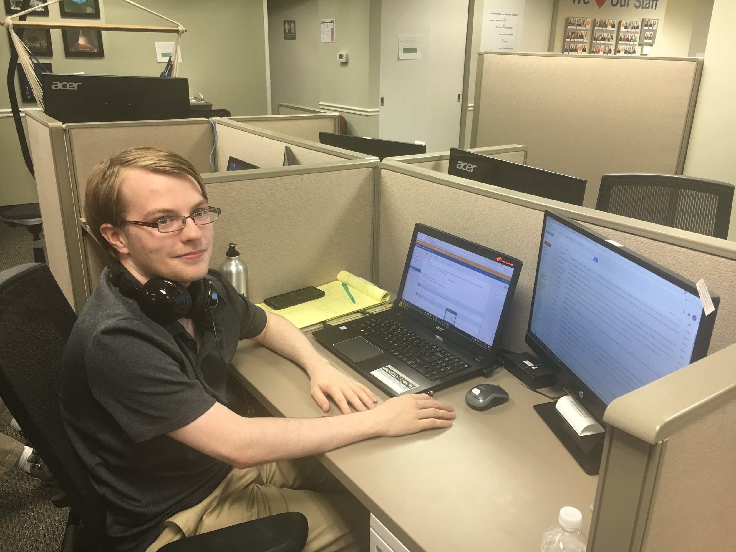 """I feel a little less alone. At other jobs, I felt more isolated, because I didn't feel like I could talk to anyone else. Here feels different. I feel like I could be friends with my co-workers here.""  -Anthony, 22 years old, QA Analyst since 2016"