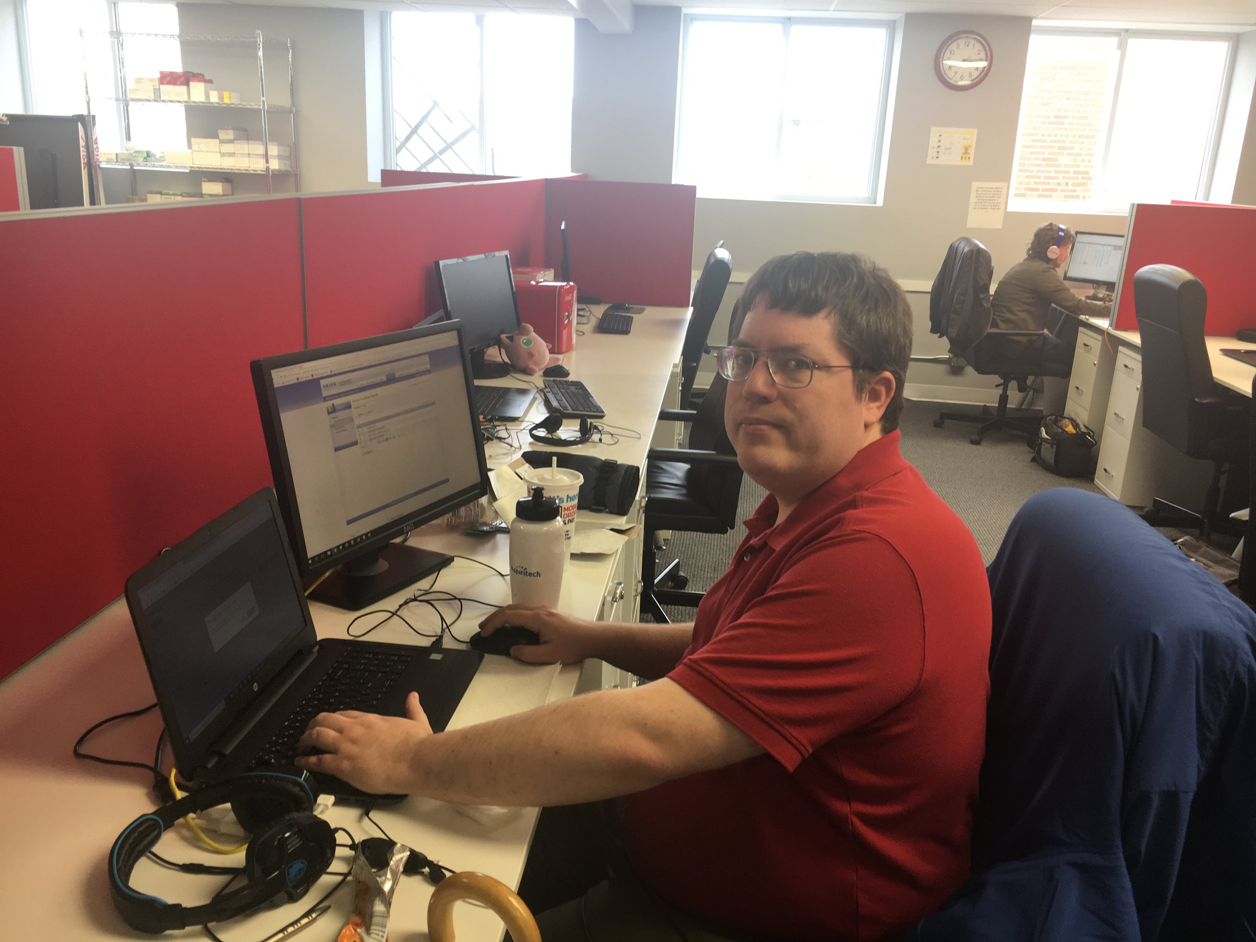 """""""I've been able to work on bad work habits I had at previous jobs. Now I am keeping better focus on the work, and arriving to work on time.""""  -Aaron, 37 years old, QA Analyst since 2017"""