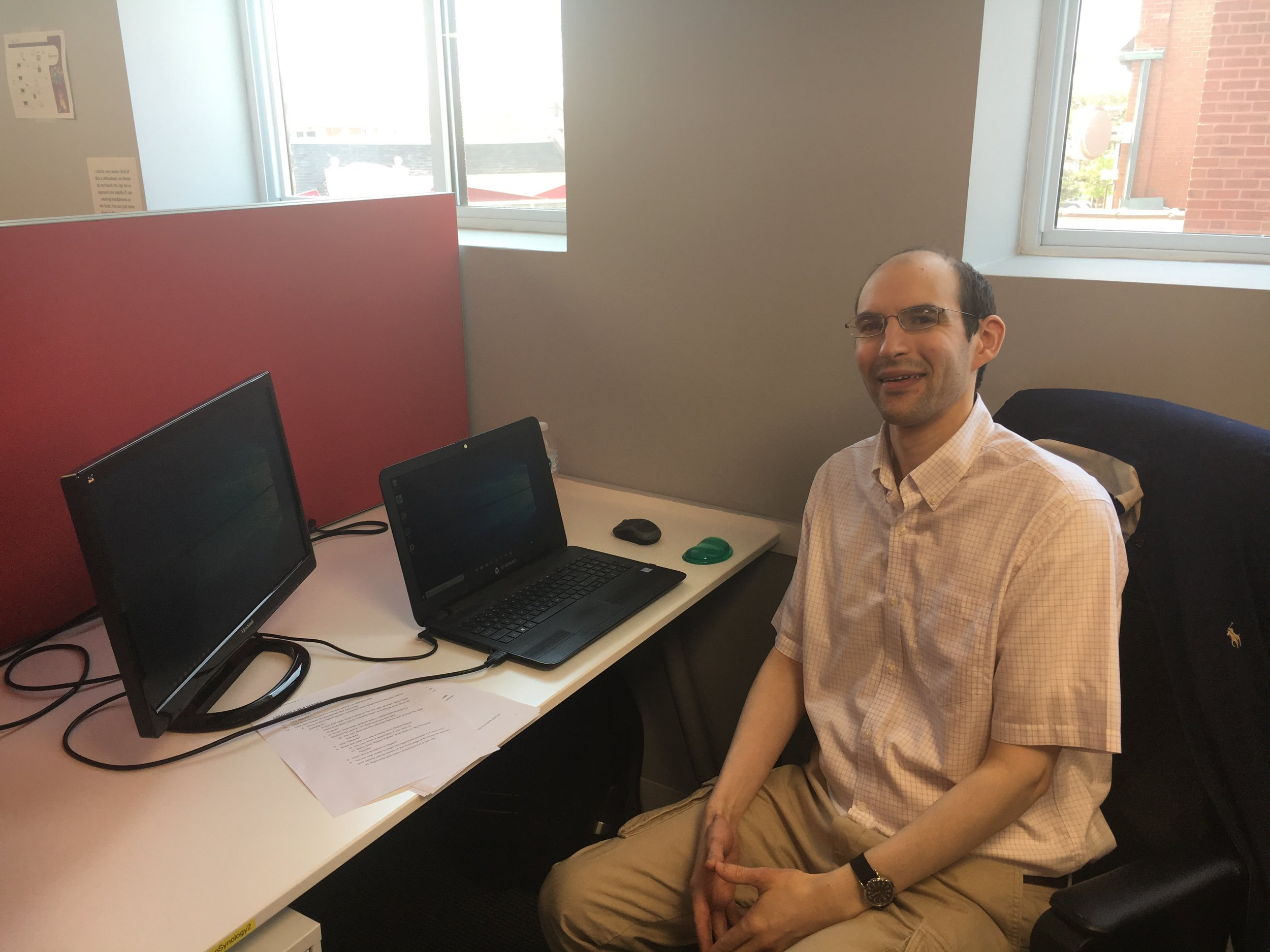 """I like the environment. It is very supportive. If I have questions, I feel comfortable reaching out to someone. I also like that it is quiet. I can focus and get my work done.""  -David, 33 years old, QA Analyst since 2017"