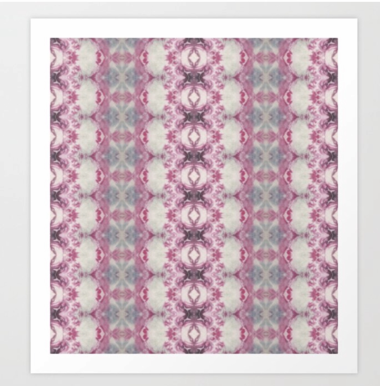 Pink and Blue Ornate Shibori