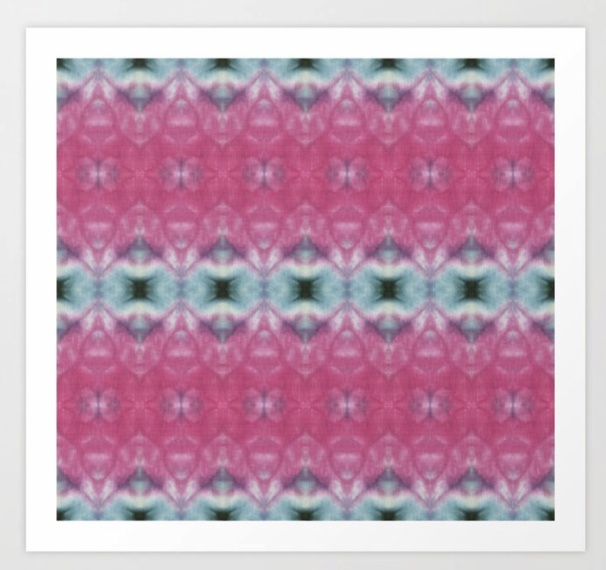 Pink and Blue Shibori Triangles