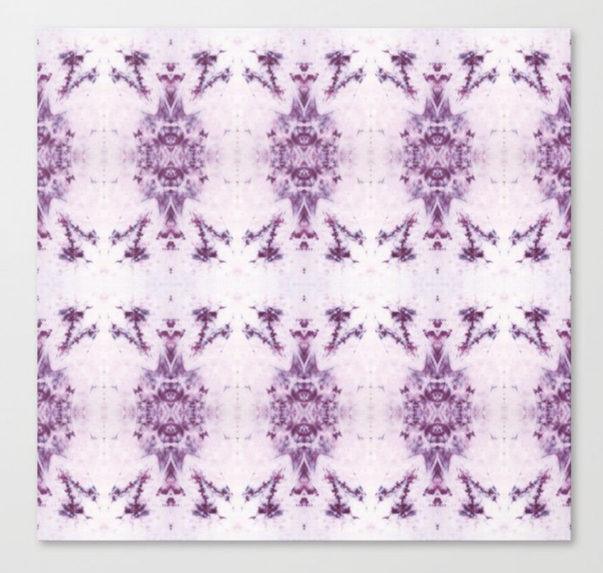 Purple and White Shibori Fireworks