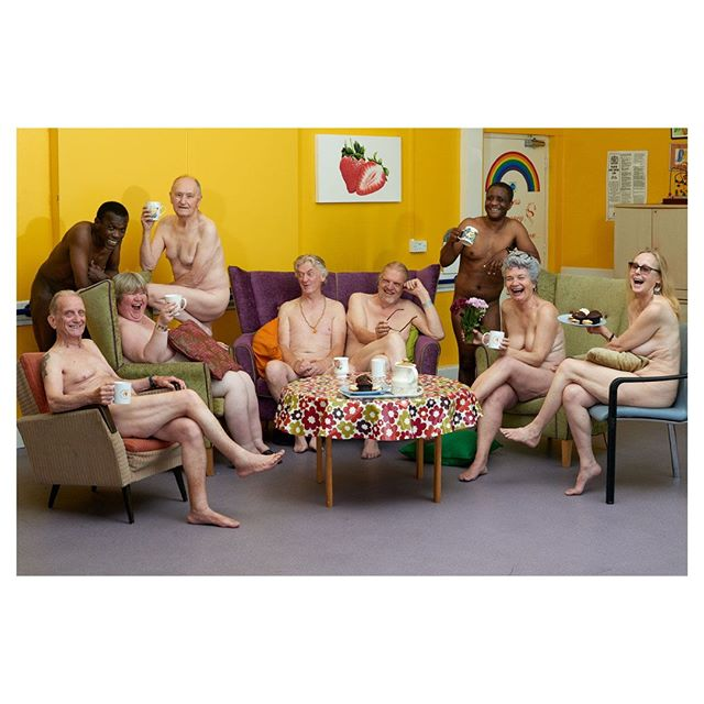 Nude calendar for Elders Voice, raising question to the stereotypes surrounding age and ageing.