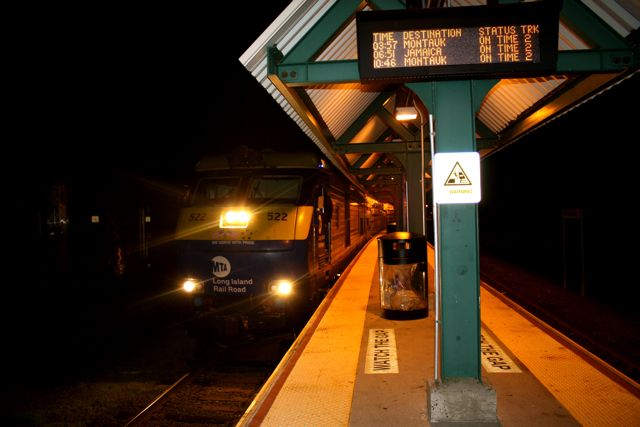 For the 4th, Afton and I took a midnight train to Montauk. We got there around 4:00 am.