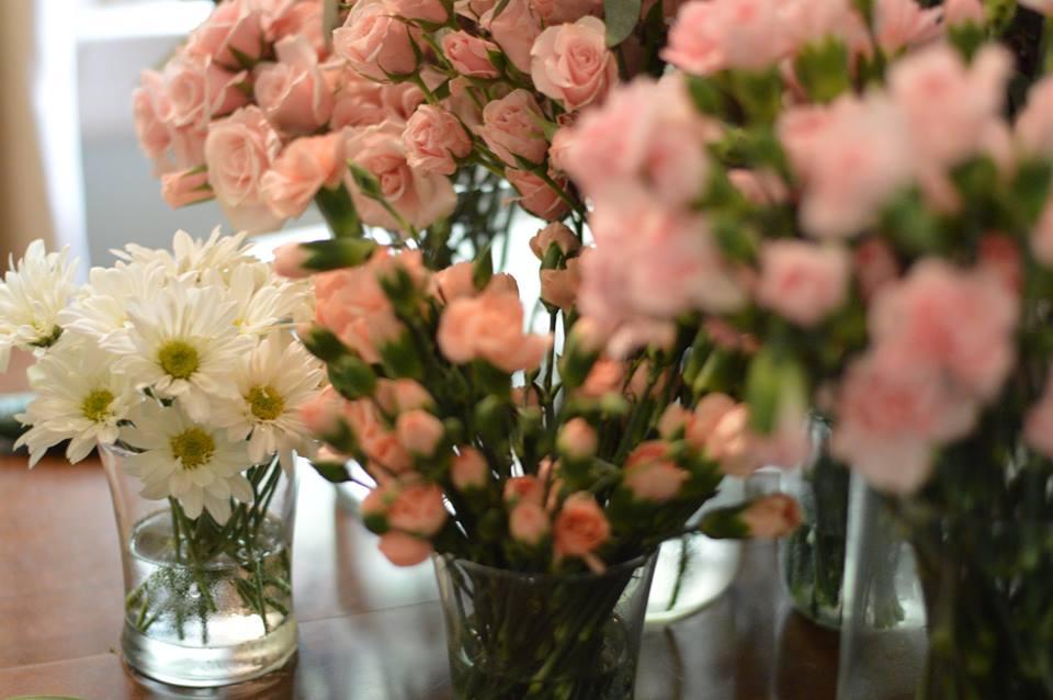 diy wedding flower support -