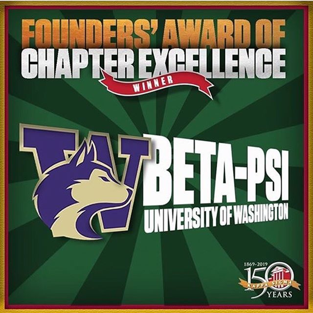 We are very proud to have received the 4th consecutive Founders Award for Chapter Excellence. We could not have done it without the help of our Executive Committee, Chairmen, Members, Advisors, Alumni, and the many families supporting us to strive for excellence throughout the whole year. #NumberOne #SecondToNone
