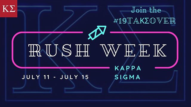 Huge week for the Dawgs as @uwifc rush week kicks off! This is a perfect chance to experience what Kappa Sigma and Greek life have to offer. Come on out to these upcoming events for a great time. Do you have what it takes to join the #19TAKΣOVER ? Questions? Go to our website (link in bio) and contact our Recruitment Chairs #KappaSigma #GoDawgs #RushKappaSig