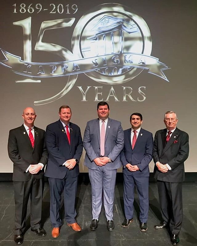 Huge congratulations to the newly elected Supreme Executive Committee, and our Honorary Initiate, Brother Justin Hansen for being elected as the new Worthy Grand Master. Your commitment and dedication to the order is unparalleled, and we are happy to follow your lead.  Congrats brothers!  #KappaSig150th #Virginia #UW #RushKappaSig