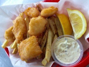 Be sure to try our Wild Pacific Halibut Fish-N-Chips! The basket includes 6 pieces of lightly beer battered halibut on a bed of our hand cut French Fries served with house-made tartar sauce and fresh lemon wedges  Reel in yours today for only $10.99!