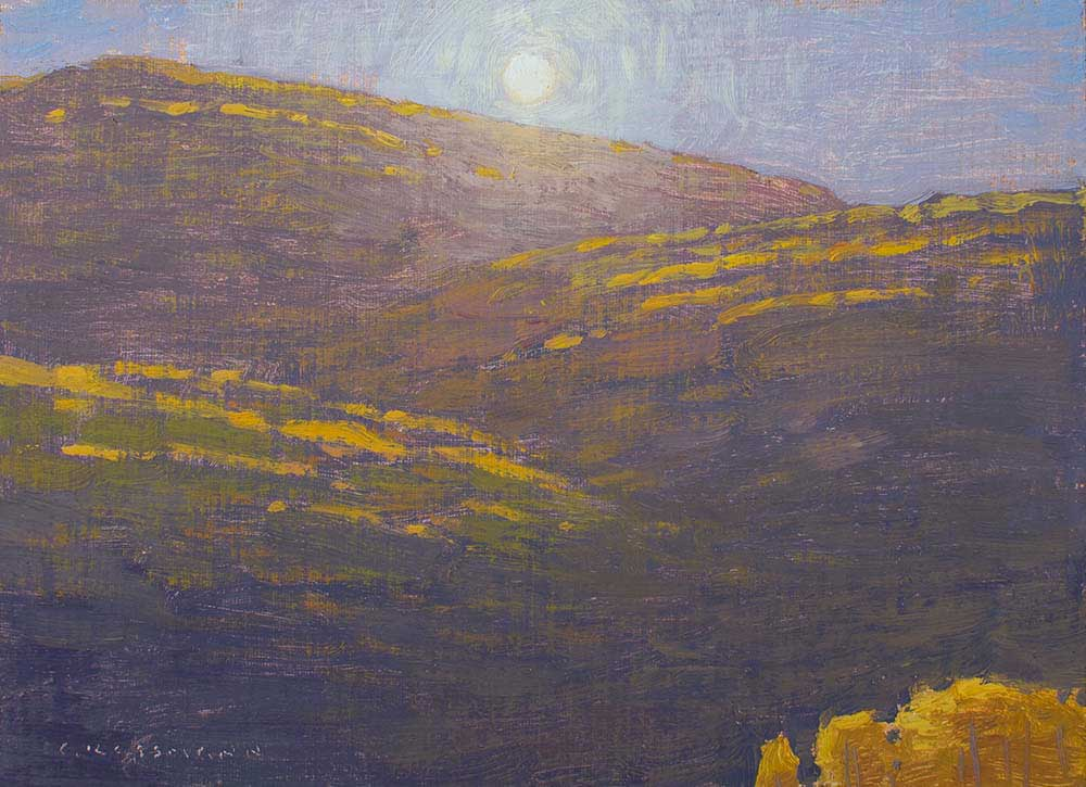 """Morning Autumn Sun Near Kebler Pass,"" 6x8 inches, oil on linen panel"