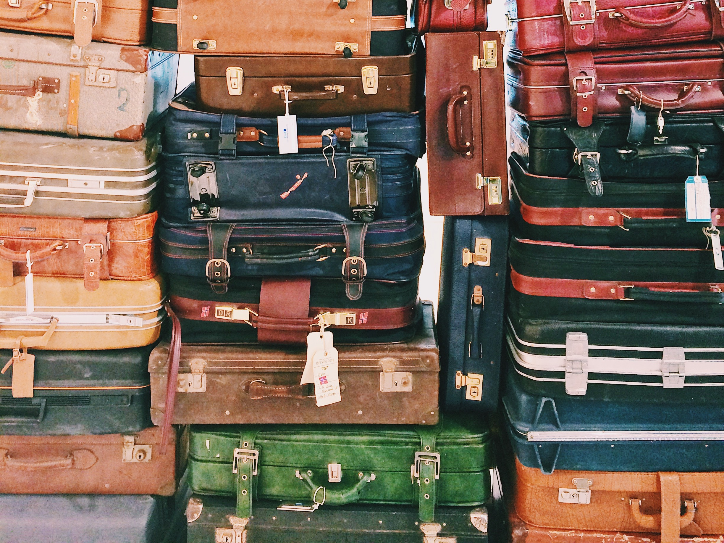 Stacks of suitcases