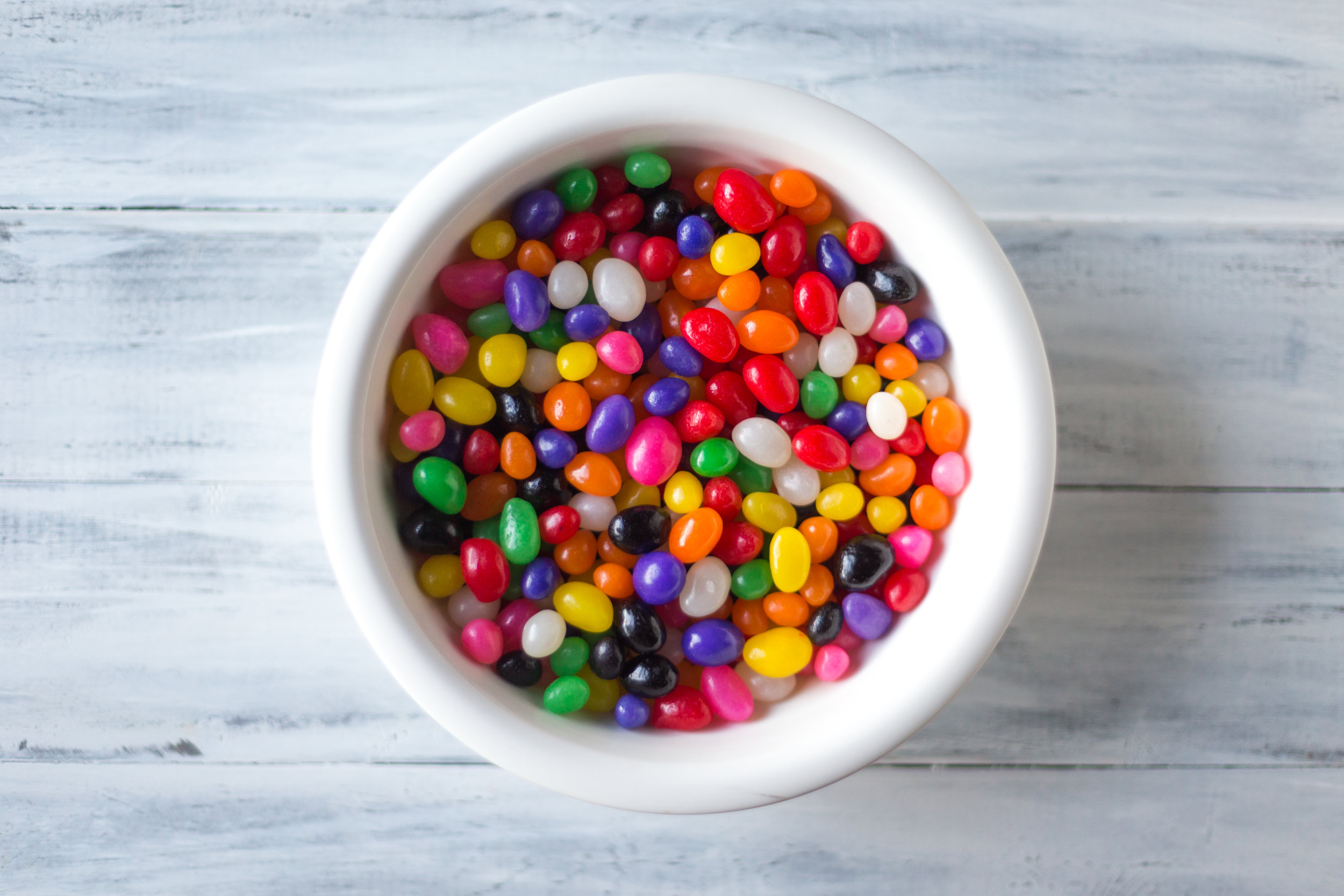 A bowl of jellybeans