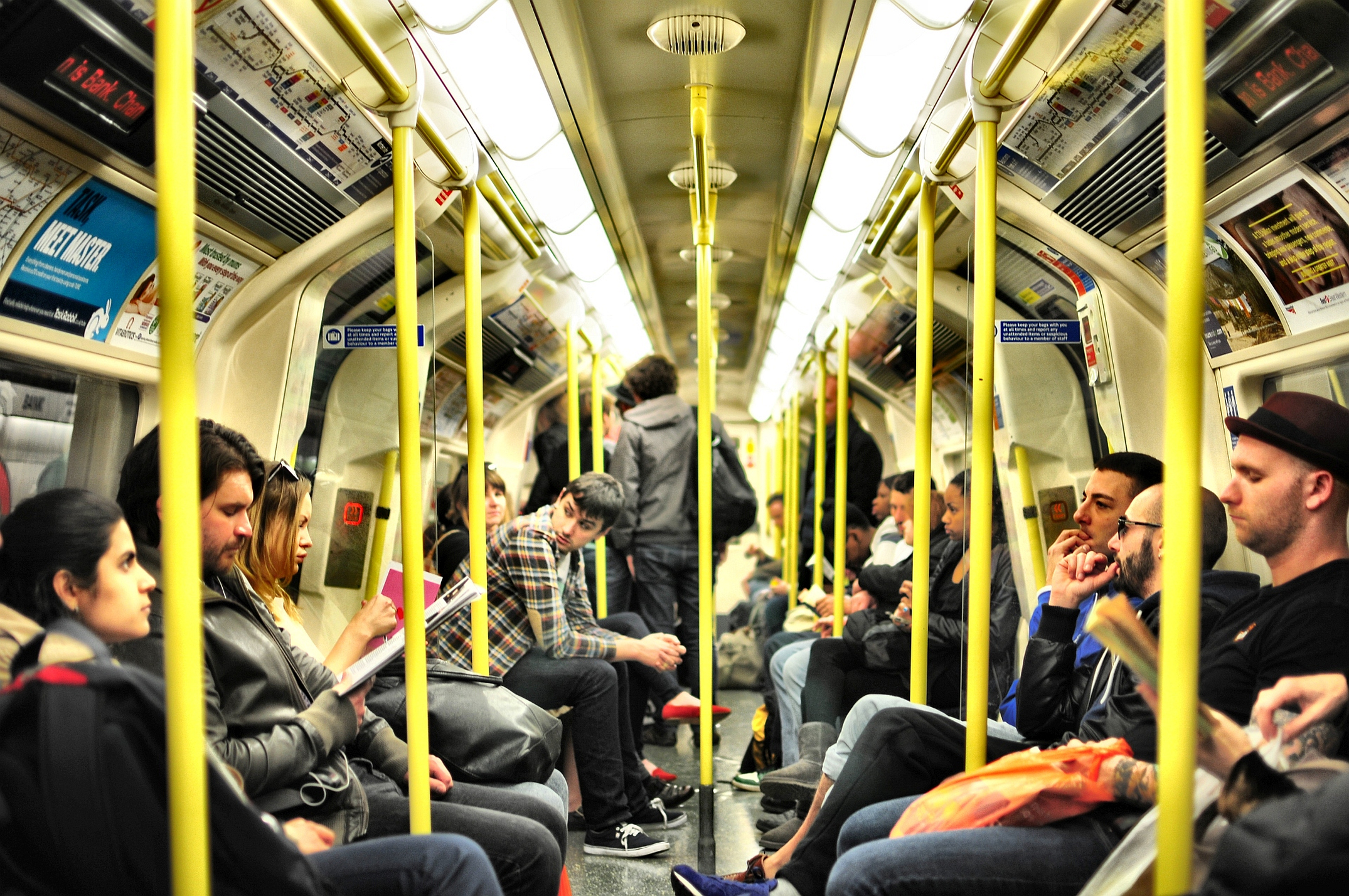 Commuters on the London Underground