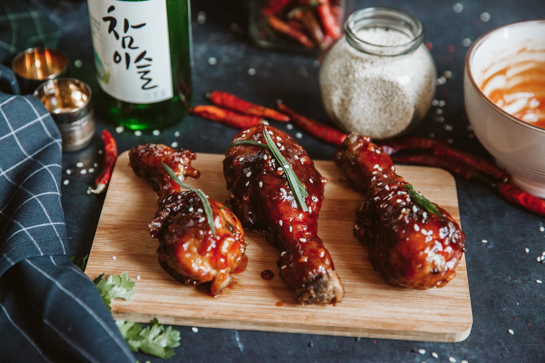 Korean fried chicken - Korėjietiška kepta vištiena
