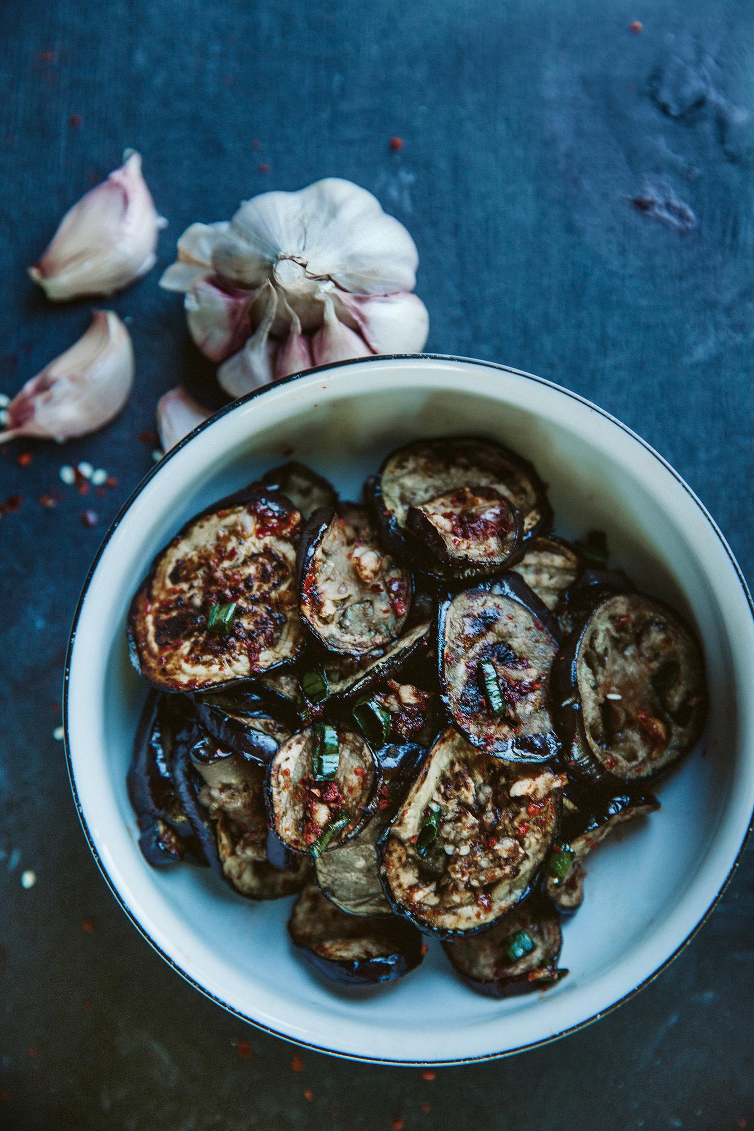 Grilled eggplant - Kepti baklažanai
