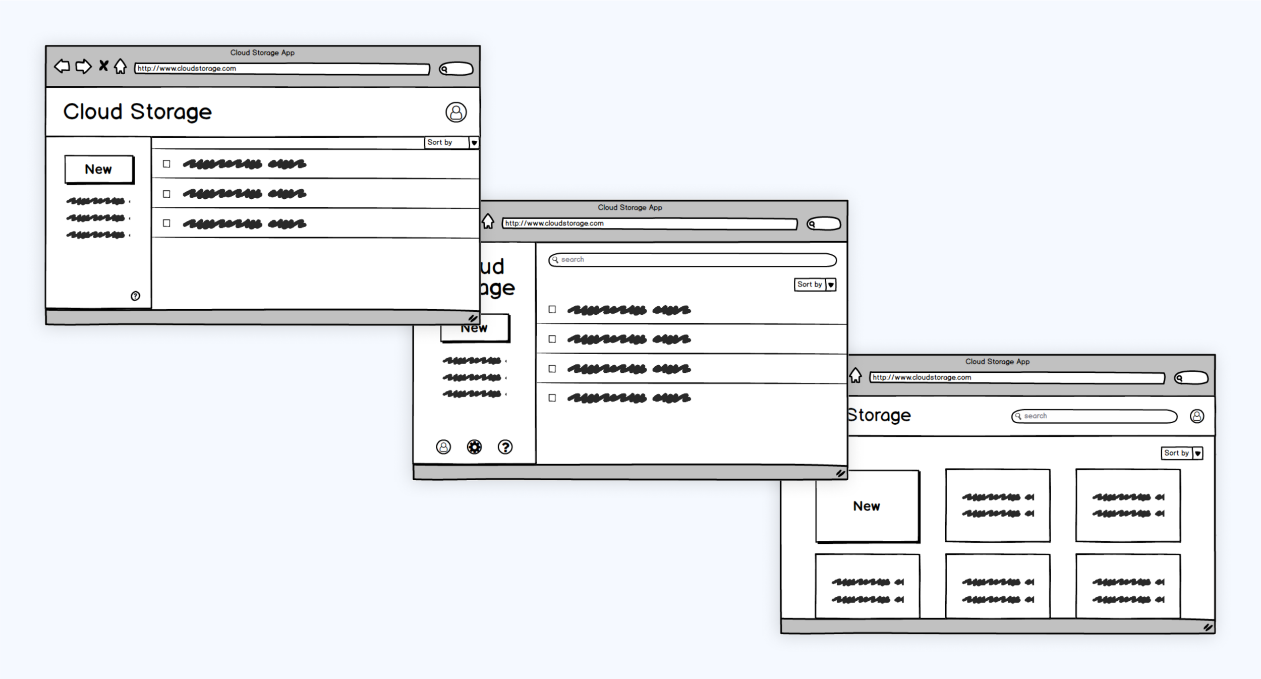 …then recreating them in Balsamiq!