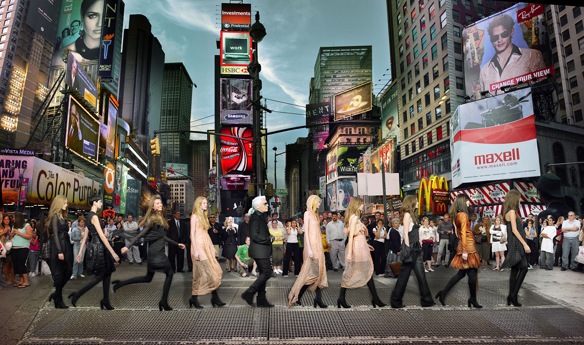 Simon Procter   Lagerfeld in Times Square