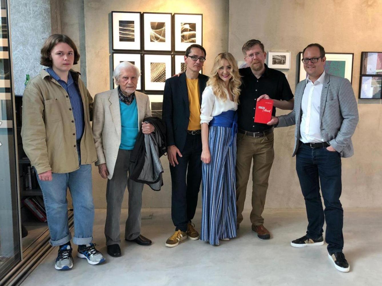 From Left: Robbie Barrat, Herbert W. Franke, Mario Klingemann, Kate Vass, Jason Bailey, Georg Bak