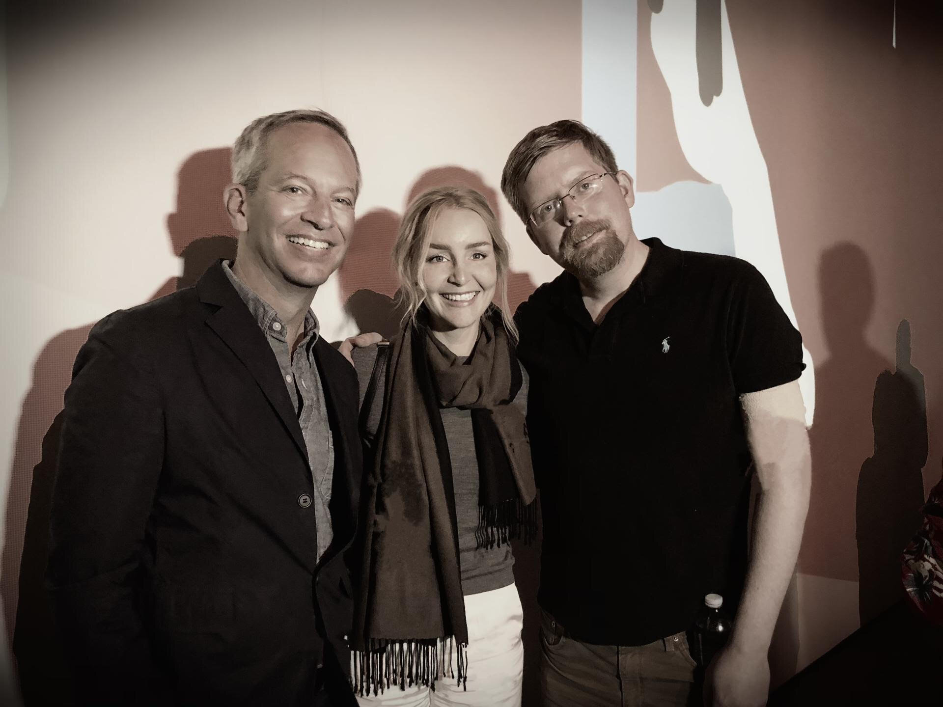 Left to right: David Young, Kate Vass, Jason Bailey (at CADAF NYC, Spring 2019)