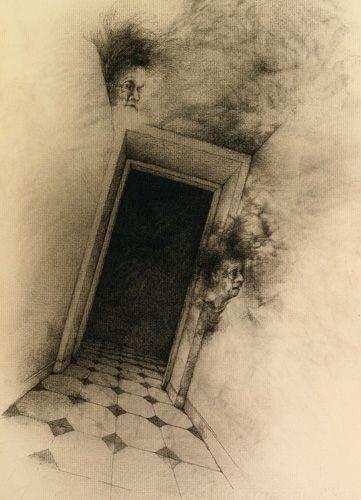 Ilustración del artista tangerino  José Hernández  para una edición de El Aleph que sólo he visto por internet.
