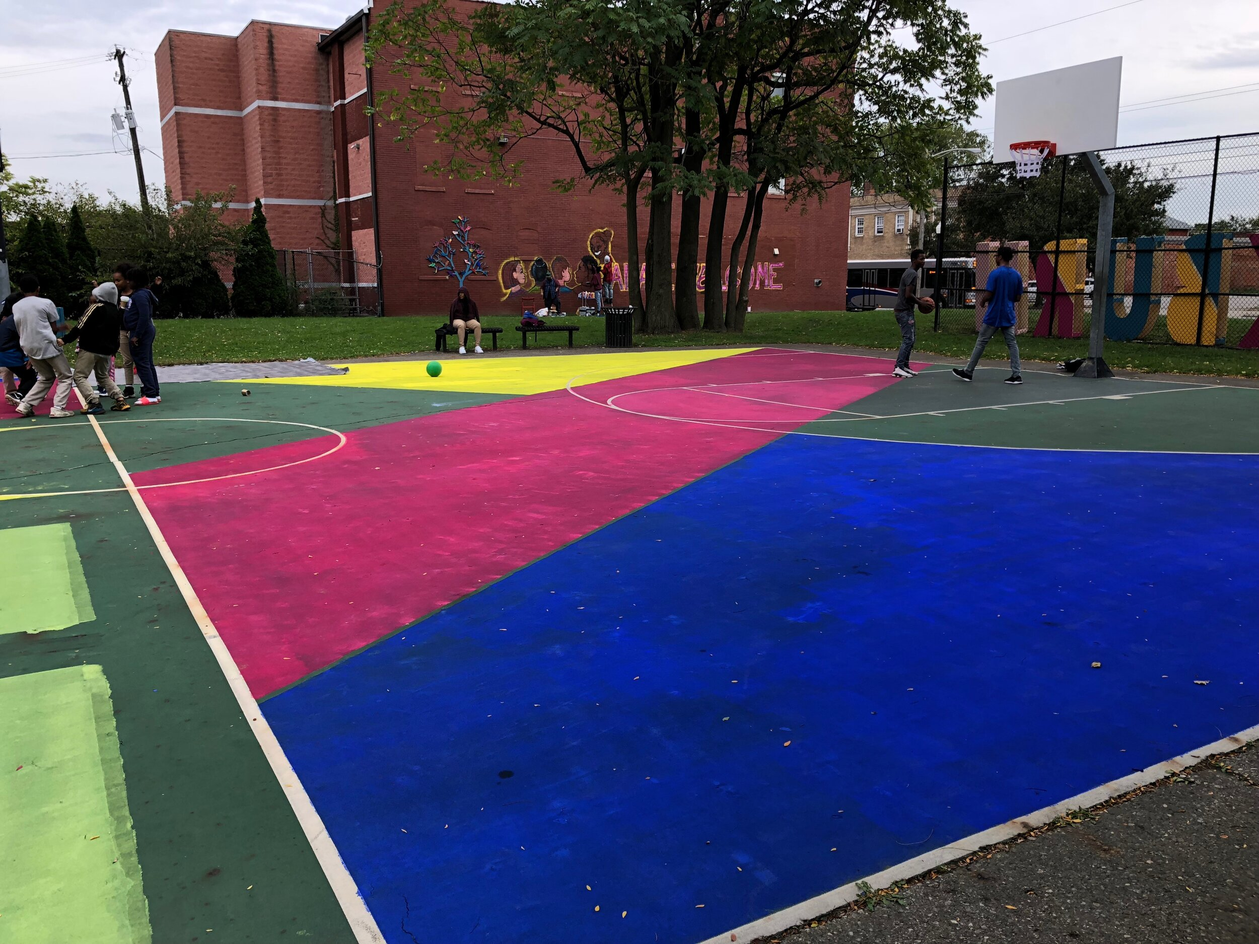 Blackburn Recreation Center Artistic Basketball Court