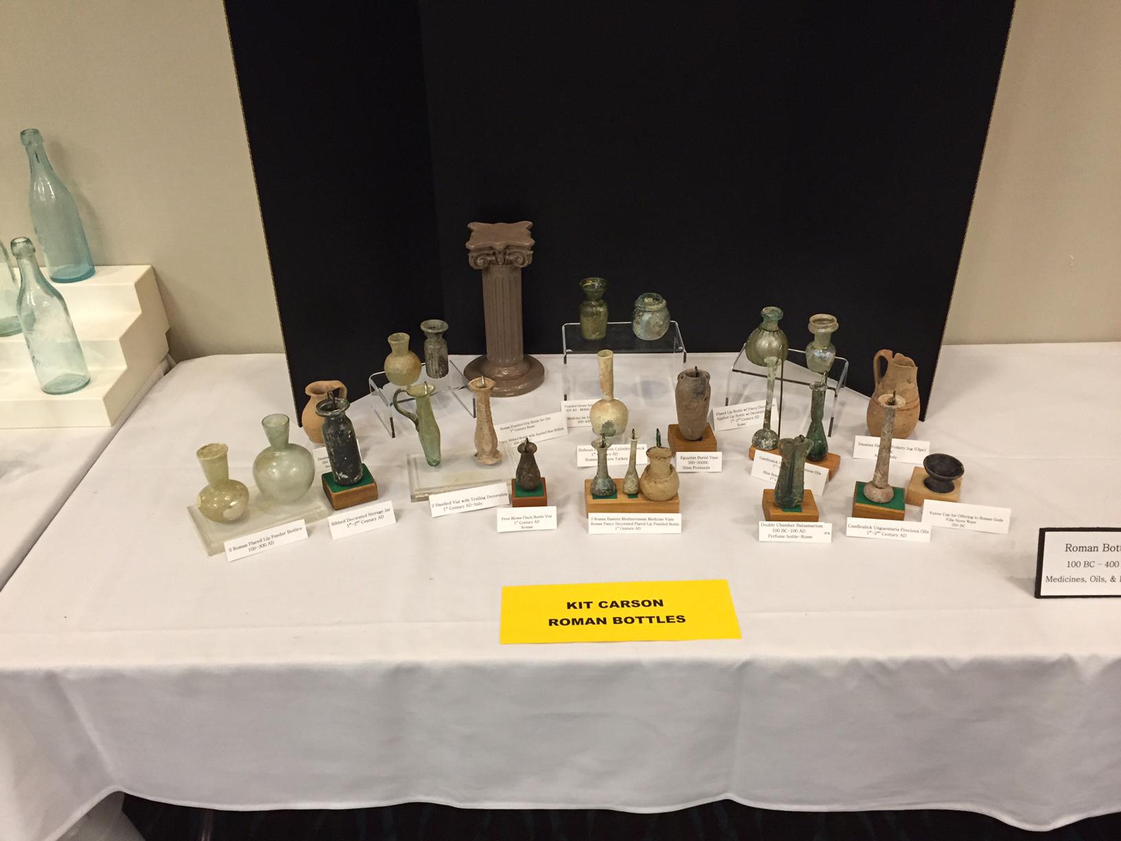 Roman Bottles display, Kit Carson