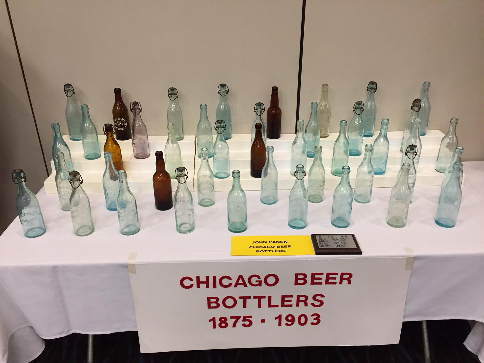 Chicago Beer Bottlers display, John E. Panek