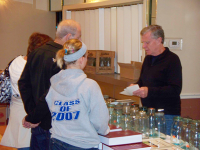 Book signing for Standard Fruit Jar Reference 2011, Club member and author Jerry McCann
