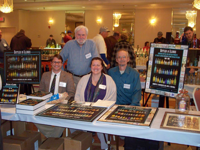 Book signing for Bottled in Illinois,  authors Ken Farnsworth (far right)  and John Walthall (standing)