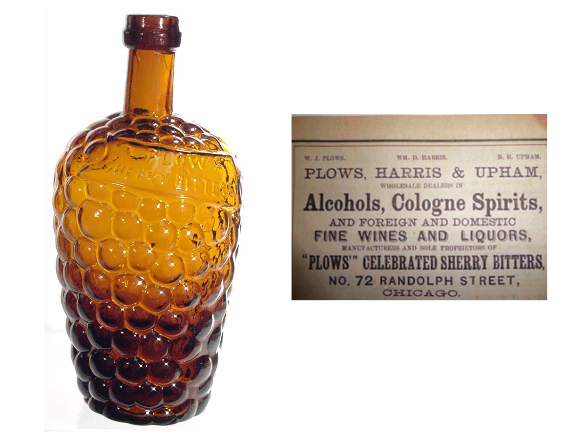 Plow's Sherry Bitters and 1865 directory listing