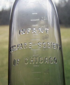 Infant Welfare Society of Chicago Nursery bottle