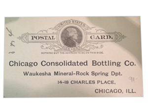 Chicago Consolidated Bottling Co.  postal card