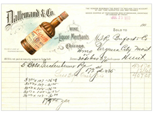 Dallemand & Co. Wine & Liquor Merchants billhead
